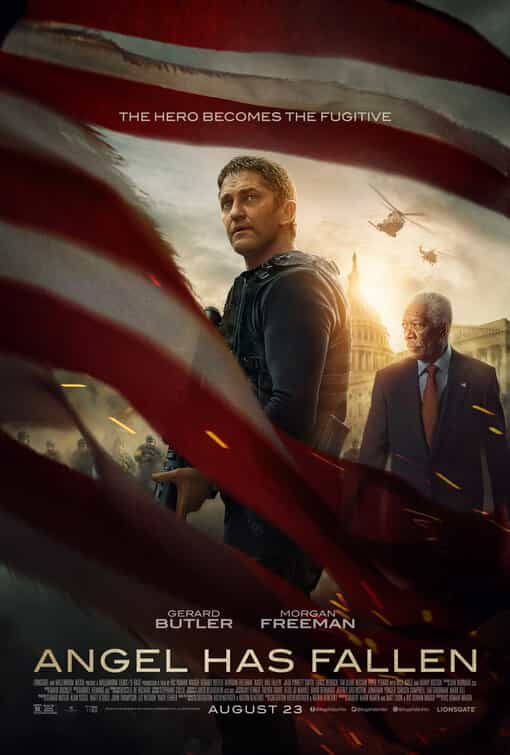 US Box Office Analysis 30th August - 1st September 2019:  Angel Has Fallen remains at the top for a second weekend with an $11 Million gross
