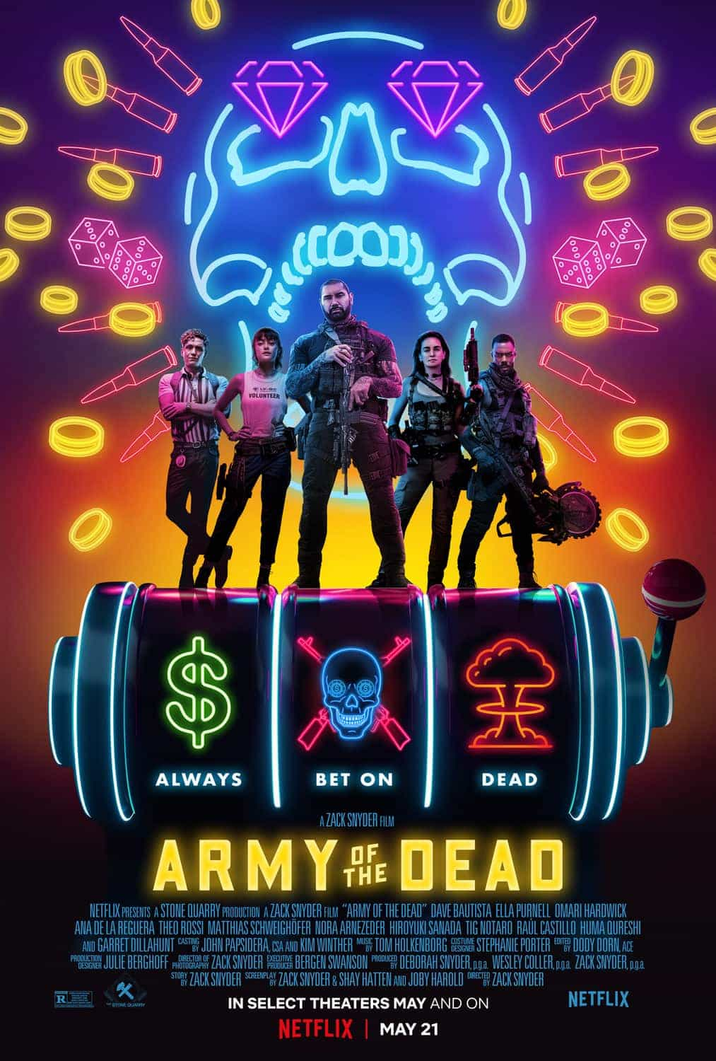 New trailer for Army Of The Dead - directed by Zack Snyder and released on Netflix May 21st