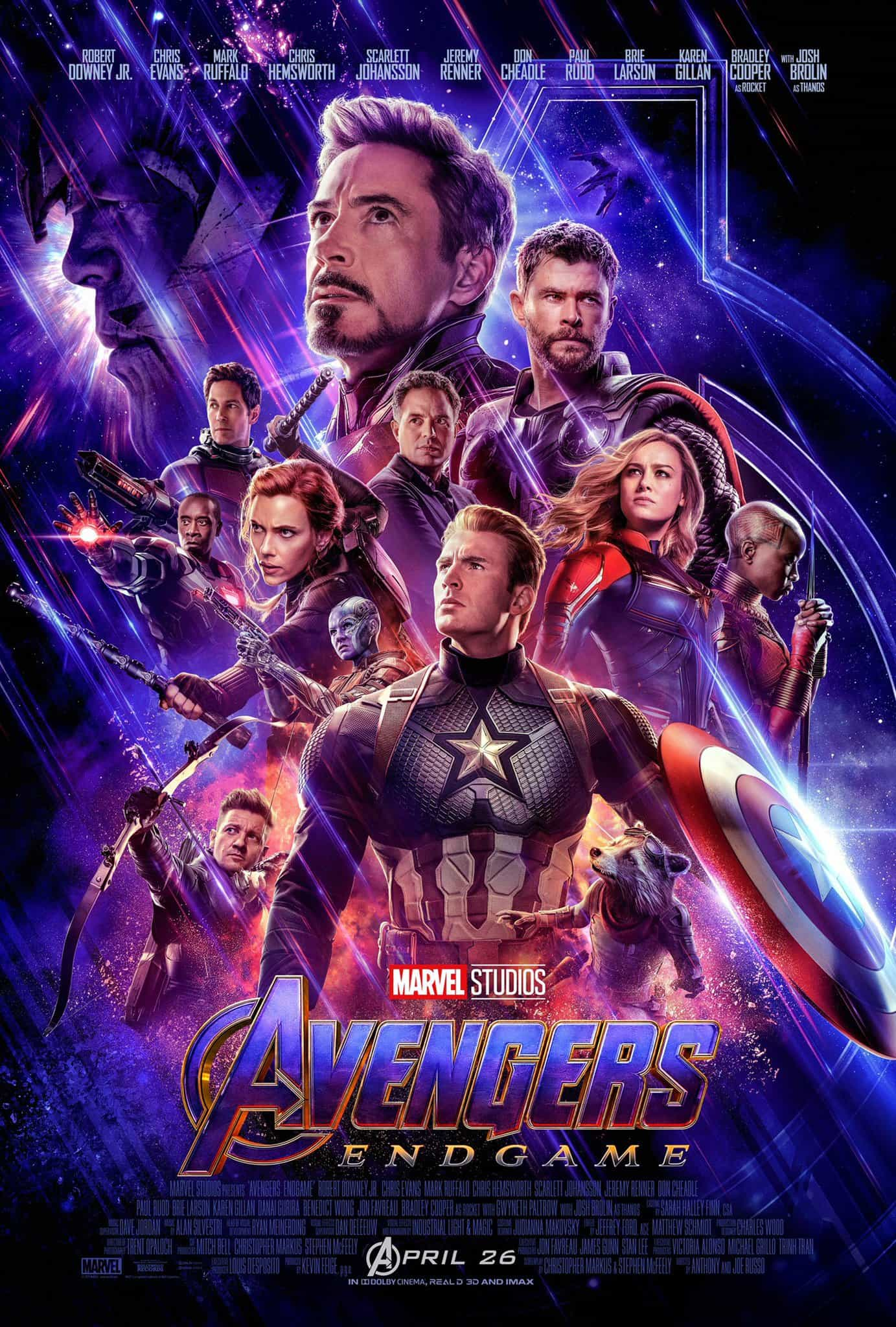 First trailer and poster for Avengers 4, officially titled Avengers Endgame, new release date April 26 2019