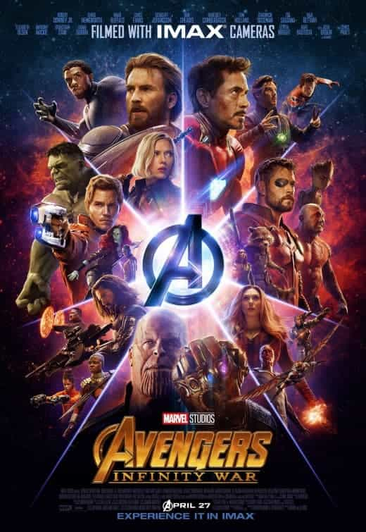 US Box Office Weekend 11 - 13 May 2018:  Avengers Infinity War makes it three weeks at the top