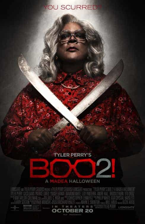 US box office weekend 20th October 2017:  Boo 2! A Madea Halloween hits the top on its debut weekend