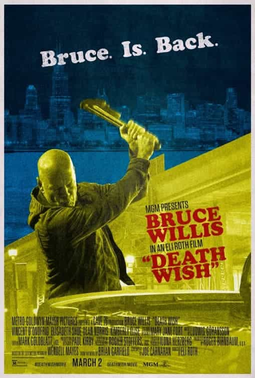 BBFC gives Death Wish an 18 certificate for strong violence, scene of torture