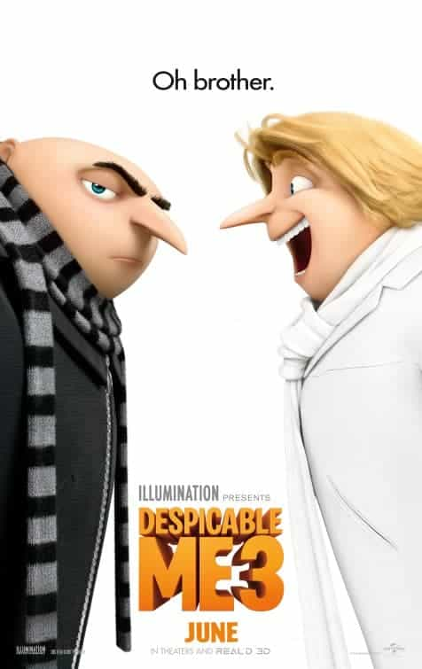 UK Box Office Weekend 30th June 2017:  Despicable Me 3 tops the box office on its debut release knocking off Transformers