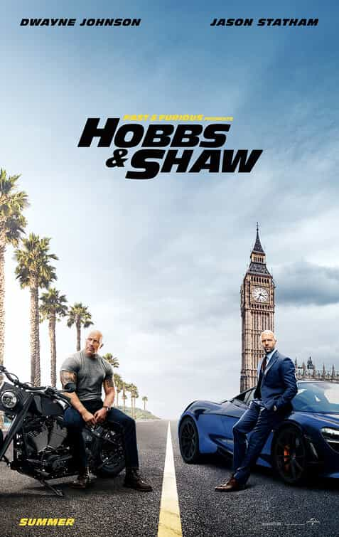 World Box Office Analysis 9th - 11th August 2019:  Hobbs And Shaw holds the top spot for a second weekend with Chinese film Line Walker 2 the top new film
