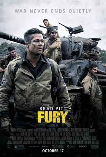 UK box office analysis 24th October 2014:  Fury hits the top