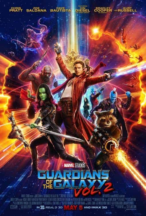 UK Box Office Weekend 28th April 2017:  Guardians opens at number l with a massive 13 million pound debut
