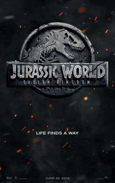 Jurassic World 2 gets a poster and title, Jurassic World Fallen Kingdom