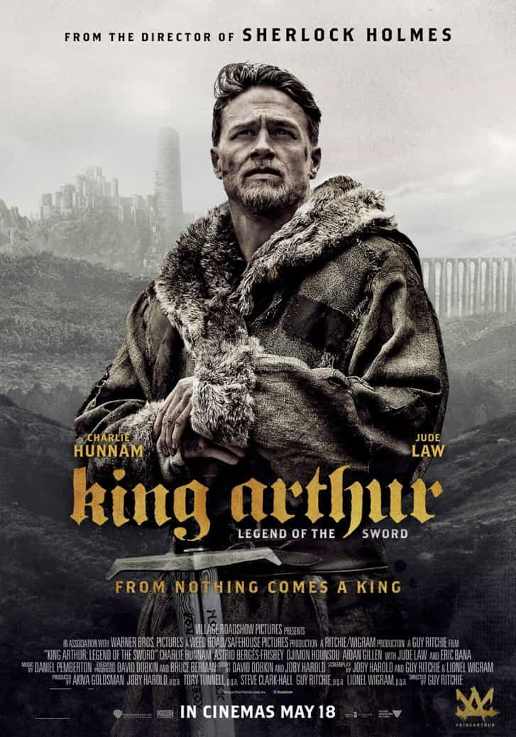 World Box Office Weekending 14th May 2017:  King Arthur is the top new film but Guardians still rule the Galaxy