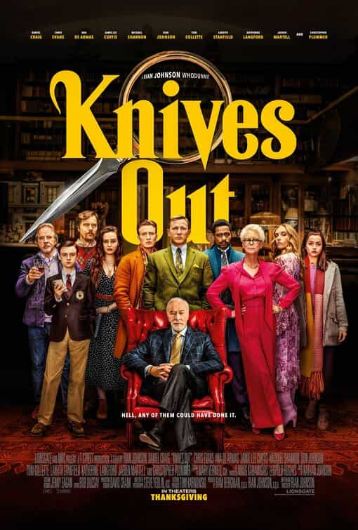 Knives Out is given a 12A age rating in the UK for brief bloody images, moderate sex and suicide references, strong language