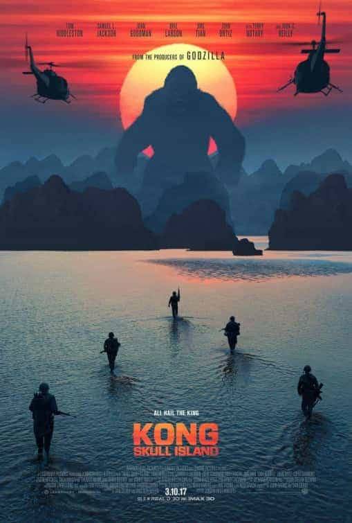UK Box Office Chart Weekend 10th March 2017:  Kong Skull Island is a monster hit on its debut
