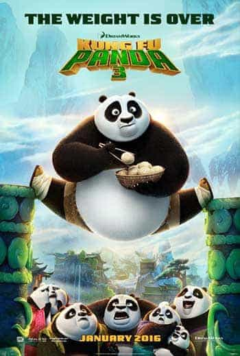 World Box Office Weeknding 31st January 2016:  Kung Fu Panda 3 reigns on its debut
