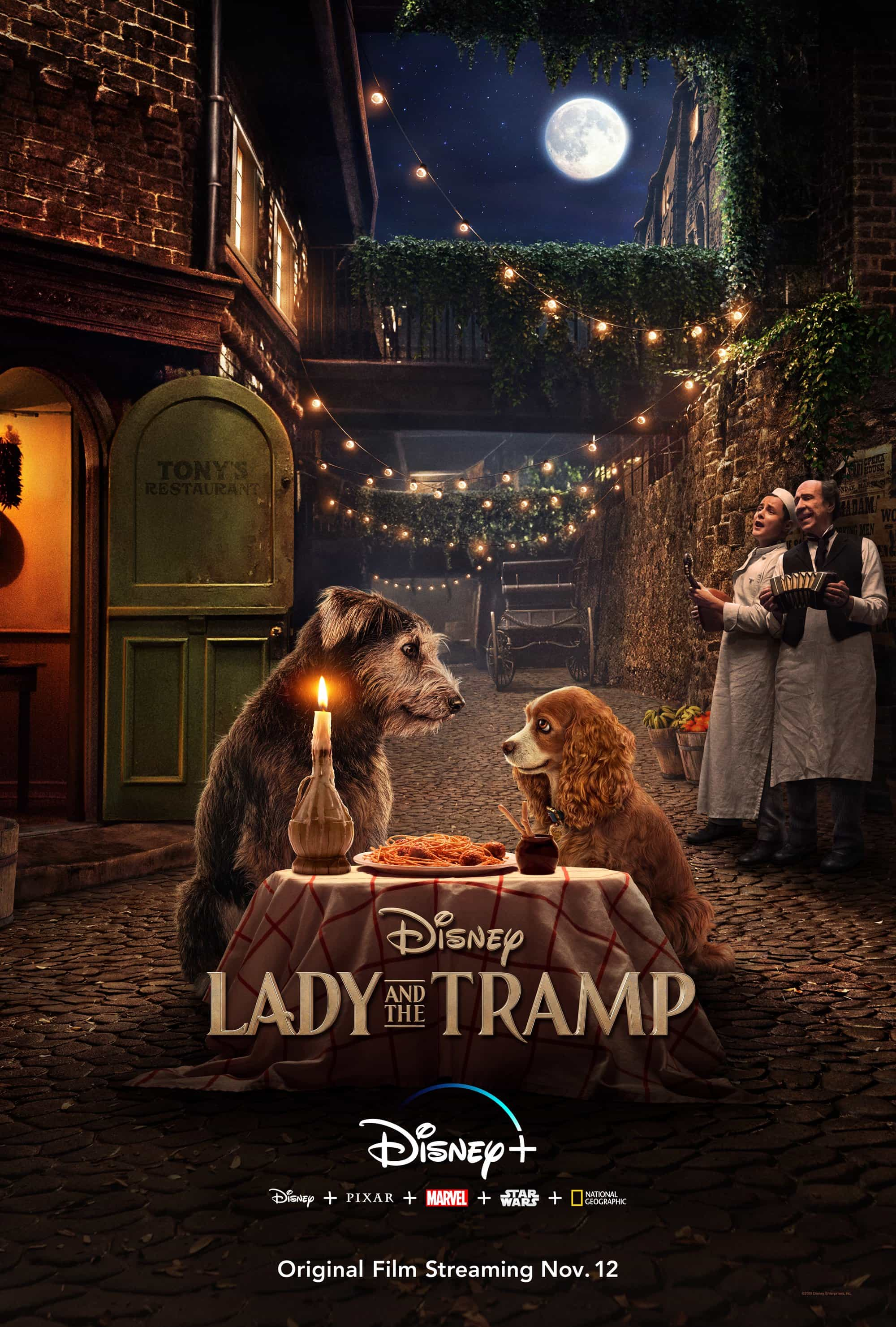 D23:  Disney release a poster for the remake of Lady And The Tramp - streaming on Disney+ November 12