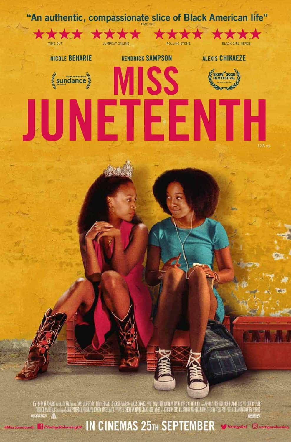 Miss Juneteenth is given a 15 age rating in the UK for strong language