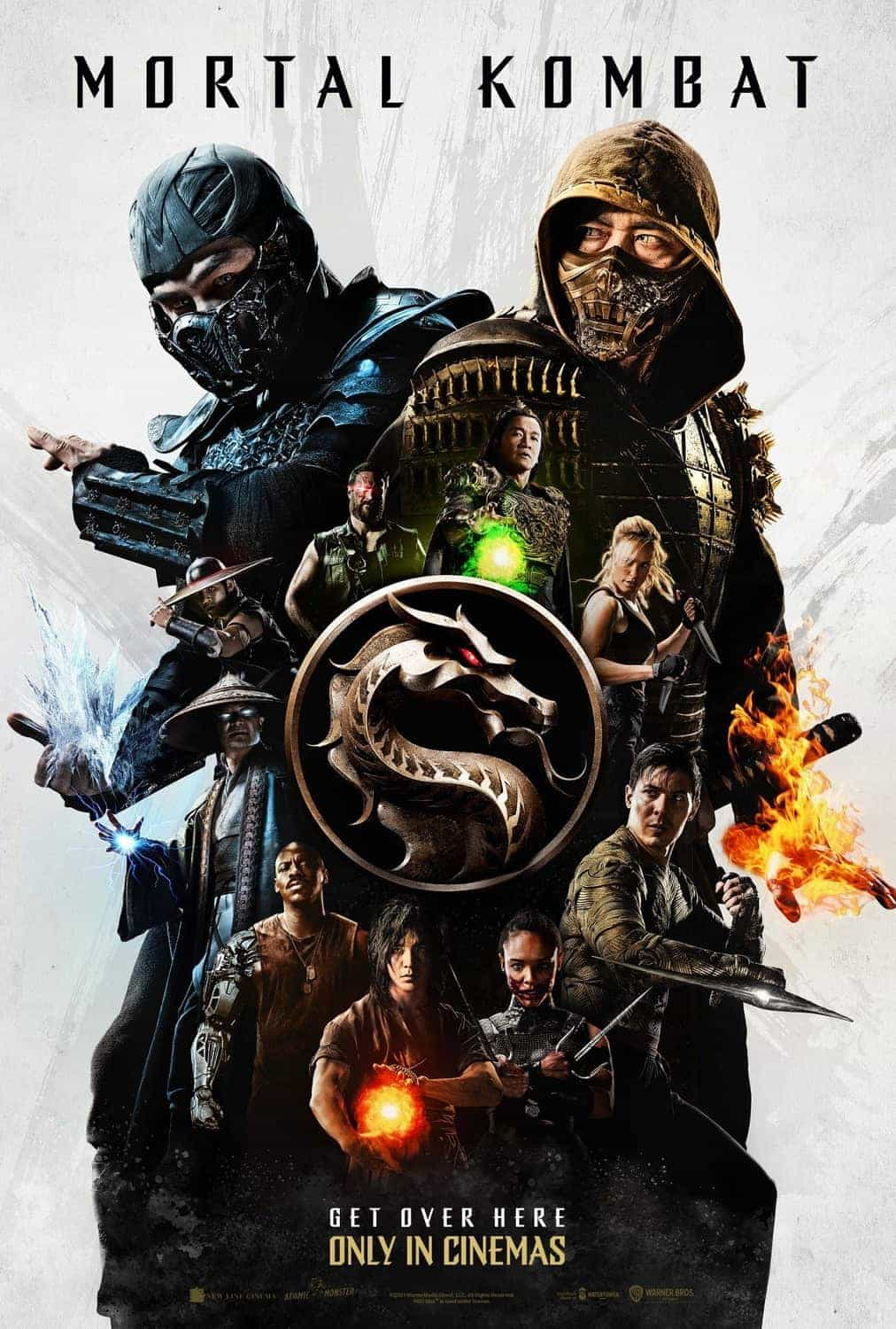 New trailer and poster for the 2021 movie version of Mortal Kombat starring Jessica McNamee - movie release date 16th April 2021