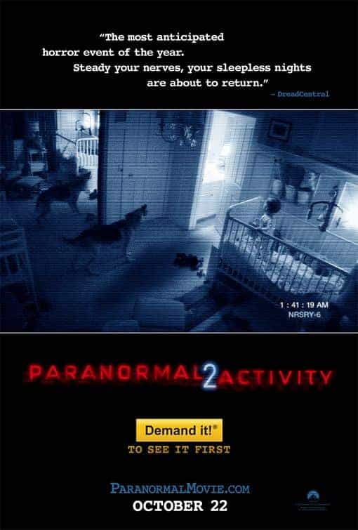 Historical UK box office end of October - Paranormal Activity 2 hit UK cinemas in 2010 at number 1