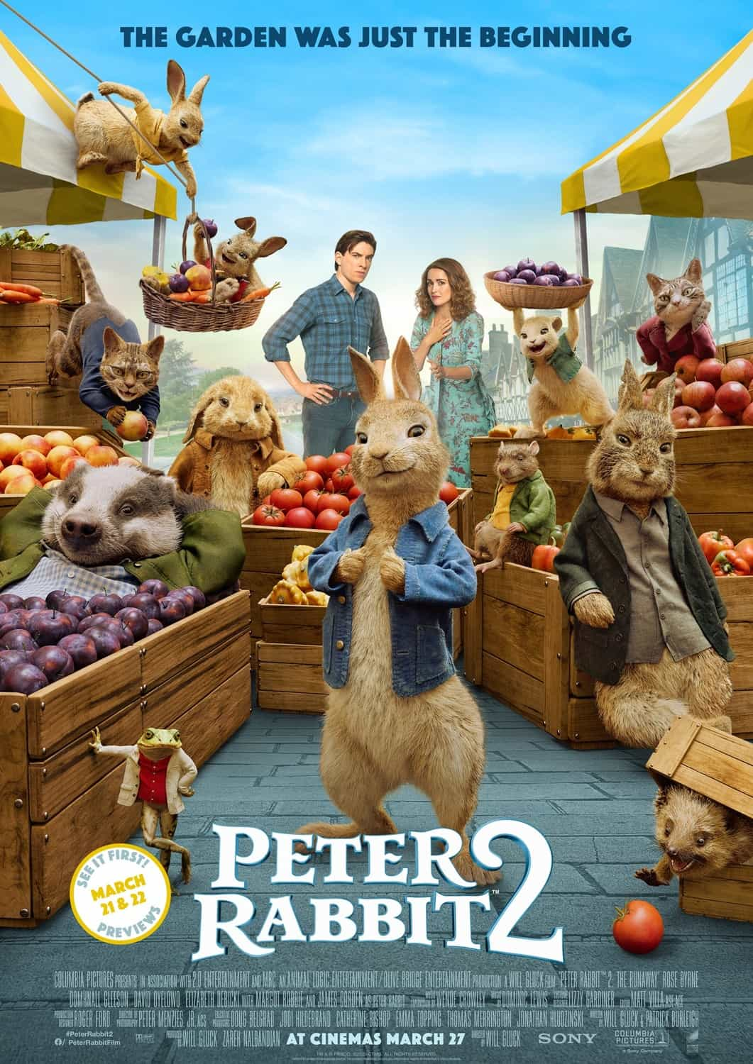 New trailer for animated sequel movie Peter Rabbit 2: The Runaway - film release date 27th March 2020