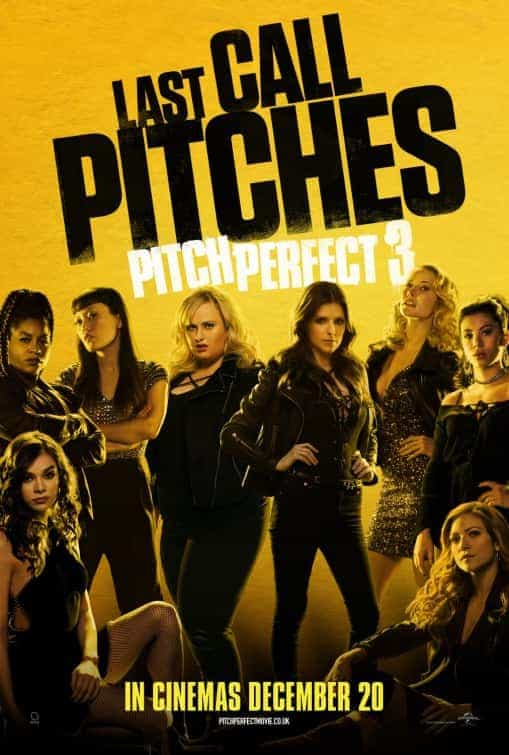 Pitch Perfect 3 is given a 12A certificate by the BBFC for moderate sex references, language, comic violence