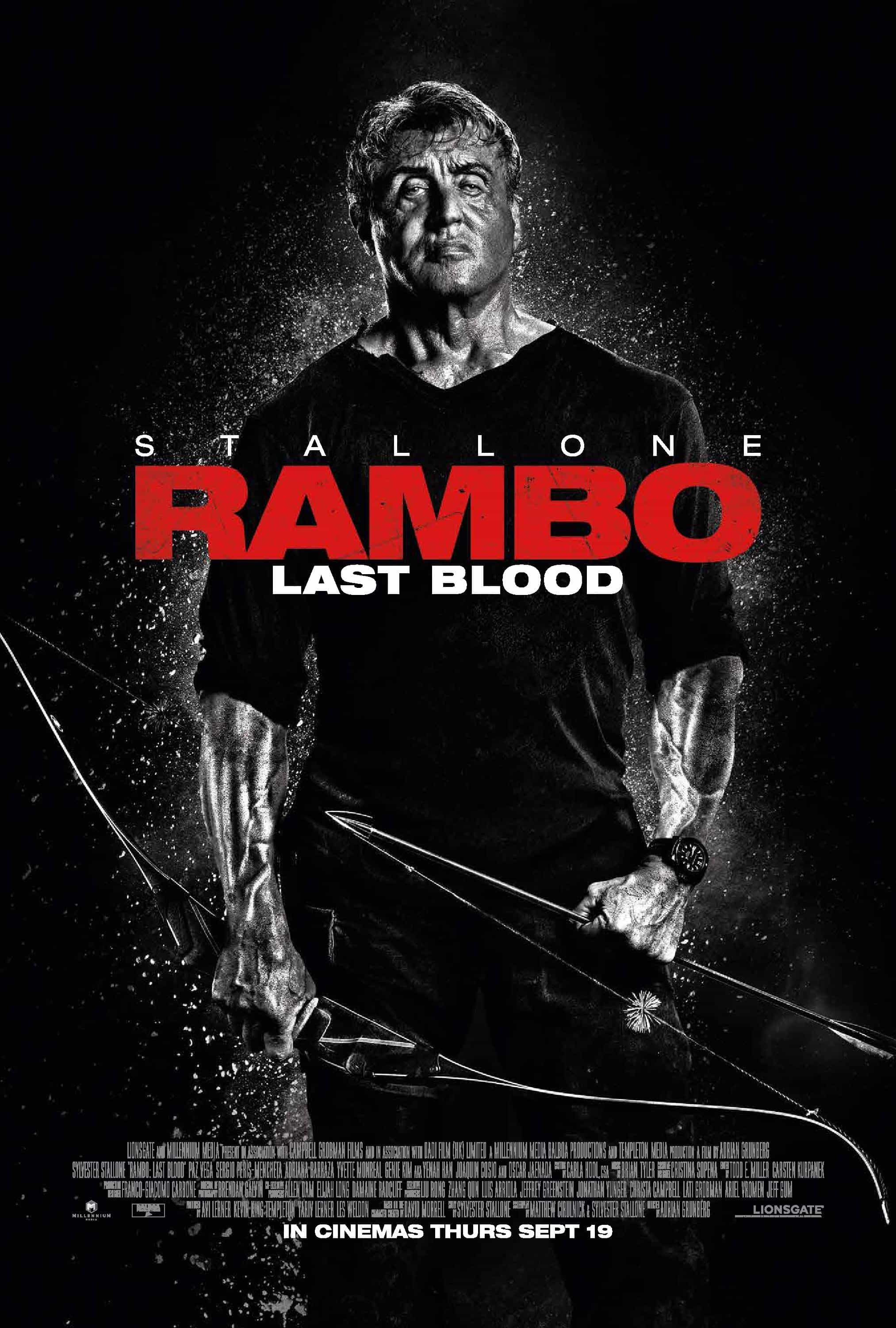 Rambo: Last Blood is given an 18 age rating in the UK for strong bloody violence, gory images