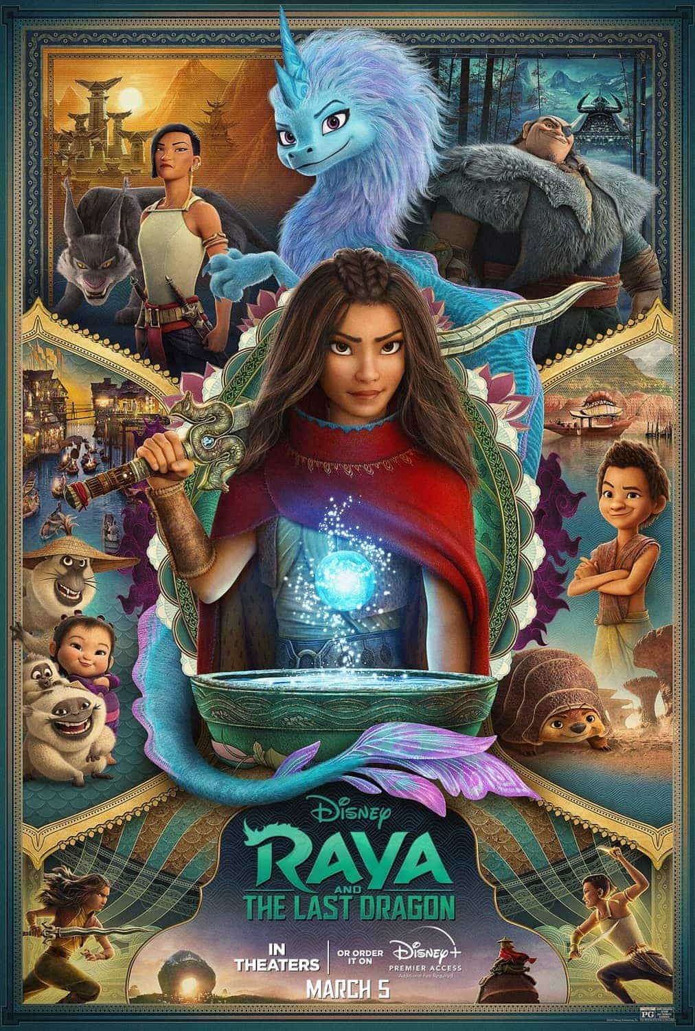 Disney release first poster for Raya And The Last Dragon starring the voice of Awkwafina - movie release date 12th March 2021