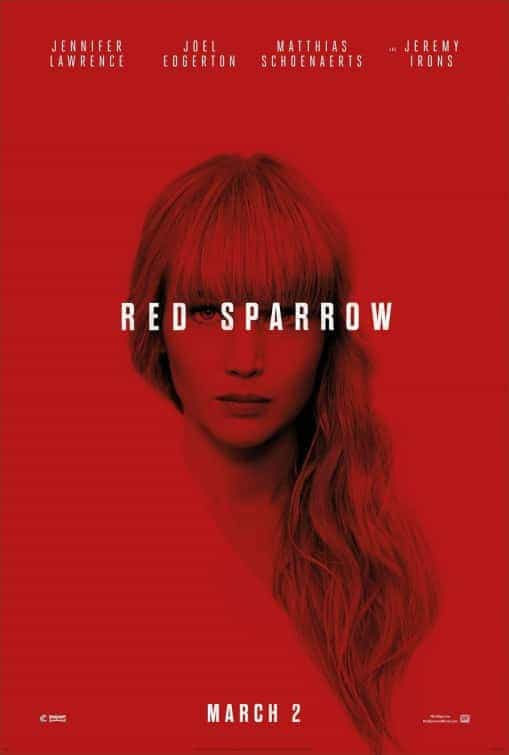 BBFC gives Red Sparrow a 15 rating for strong bloody violence, gore, sexual violence, sex, very strong language