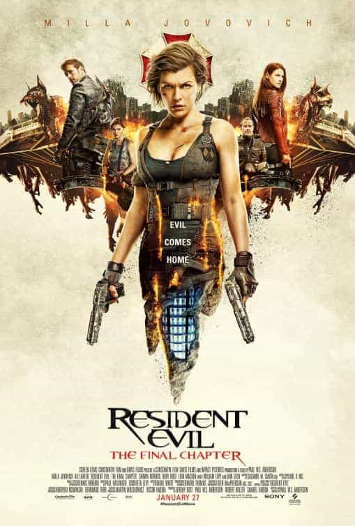 World Box Office Weekending 26th February 2017:  Resident Evil makes a massive opening in China and conquers the globe