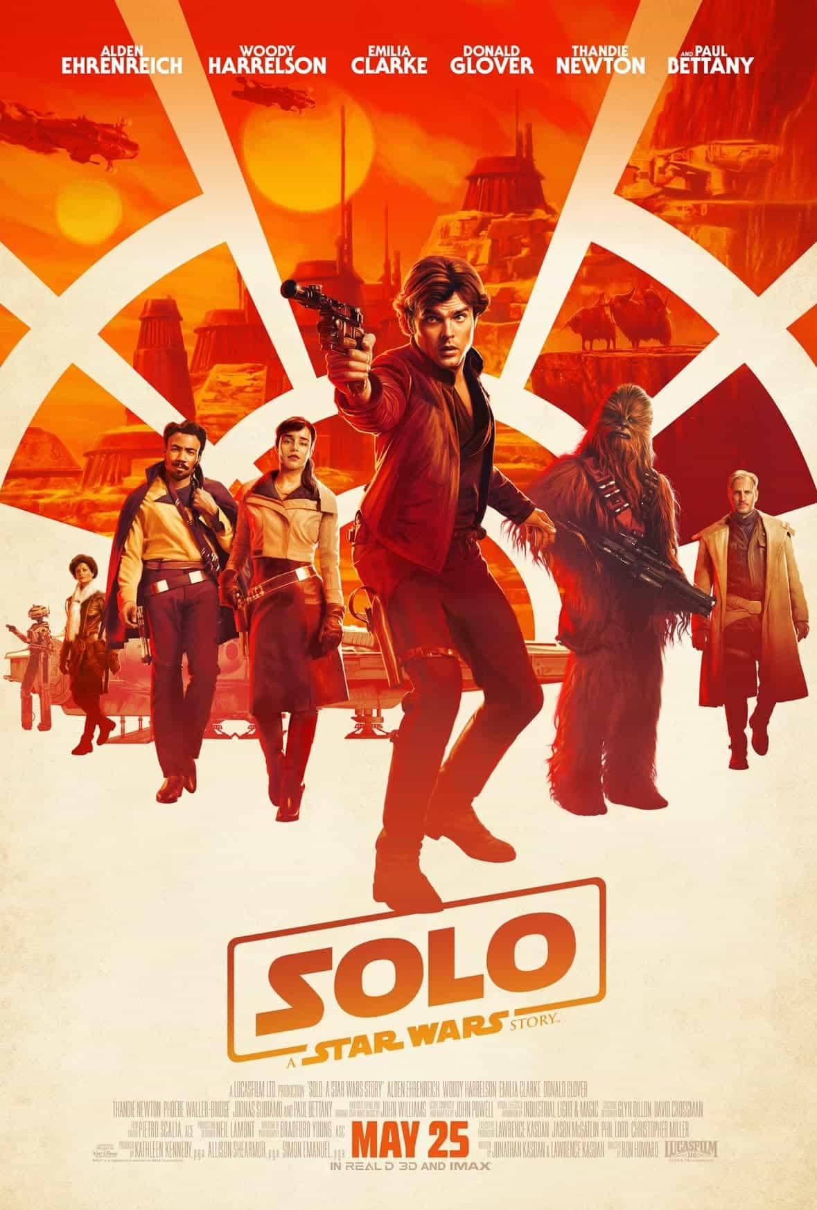 First character teaser posters for Solo - they have a great retro look and feel of Han Solo