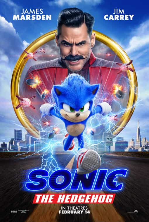 World Box Office Figures 21st - 23rd February 2020:  Sonic remains at the top with Harrison Ford entering at 2 with Call Of The Wild