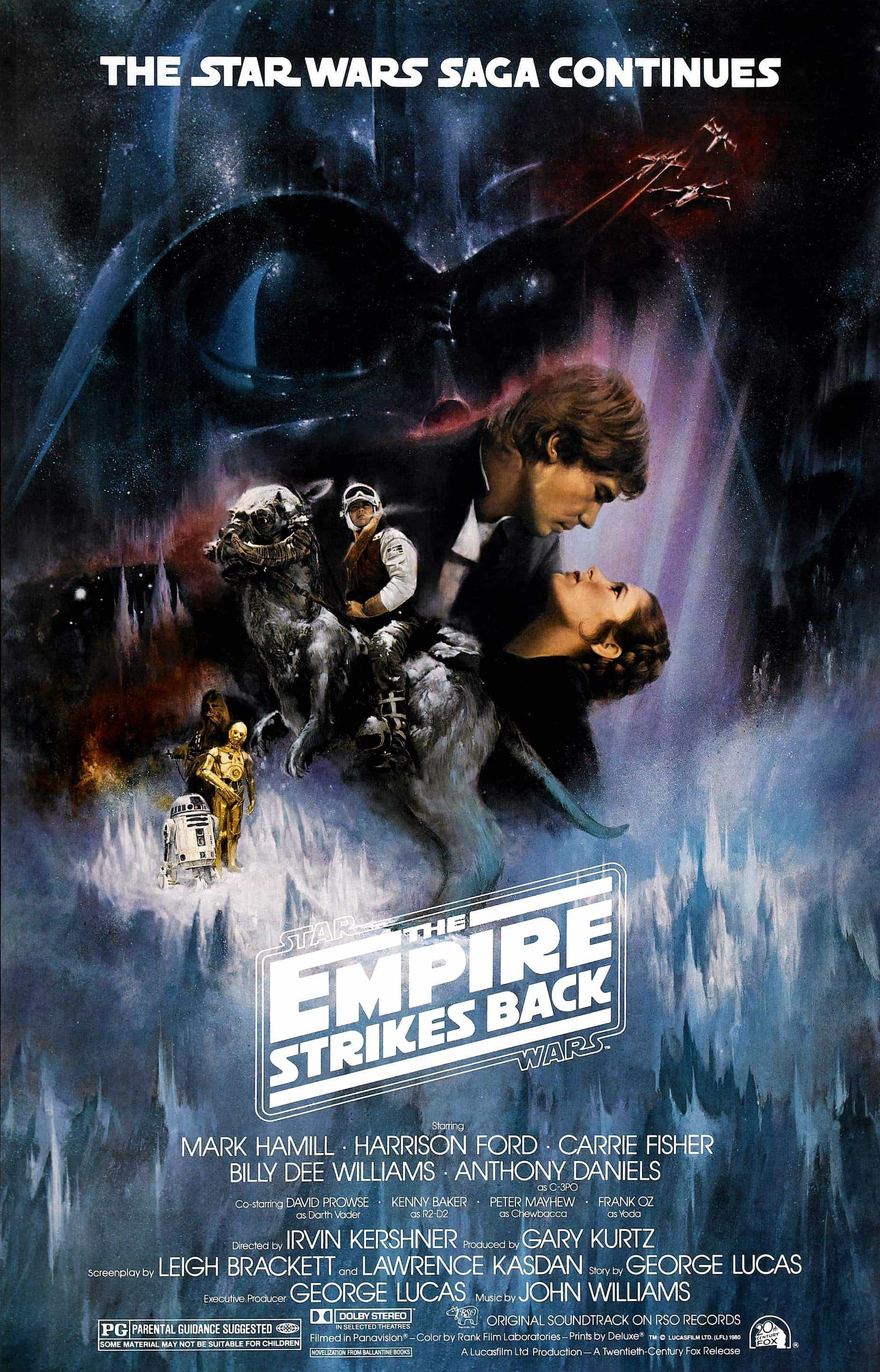 The BBFC reclassify The Empire Strikes Back as a PG age rated movie for moderate violence, mild threat