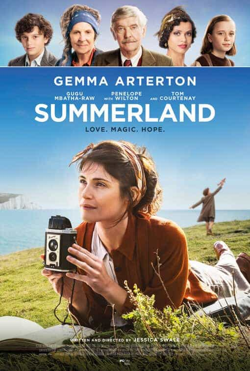 New poster release for Summerland starring Gemma Arterton - movie release date 24th July 2020