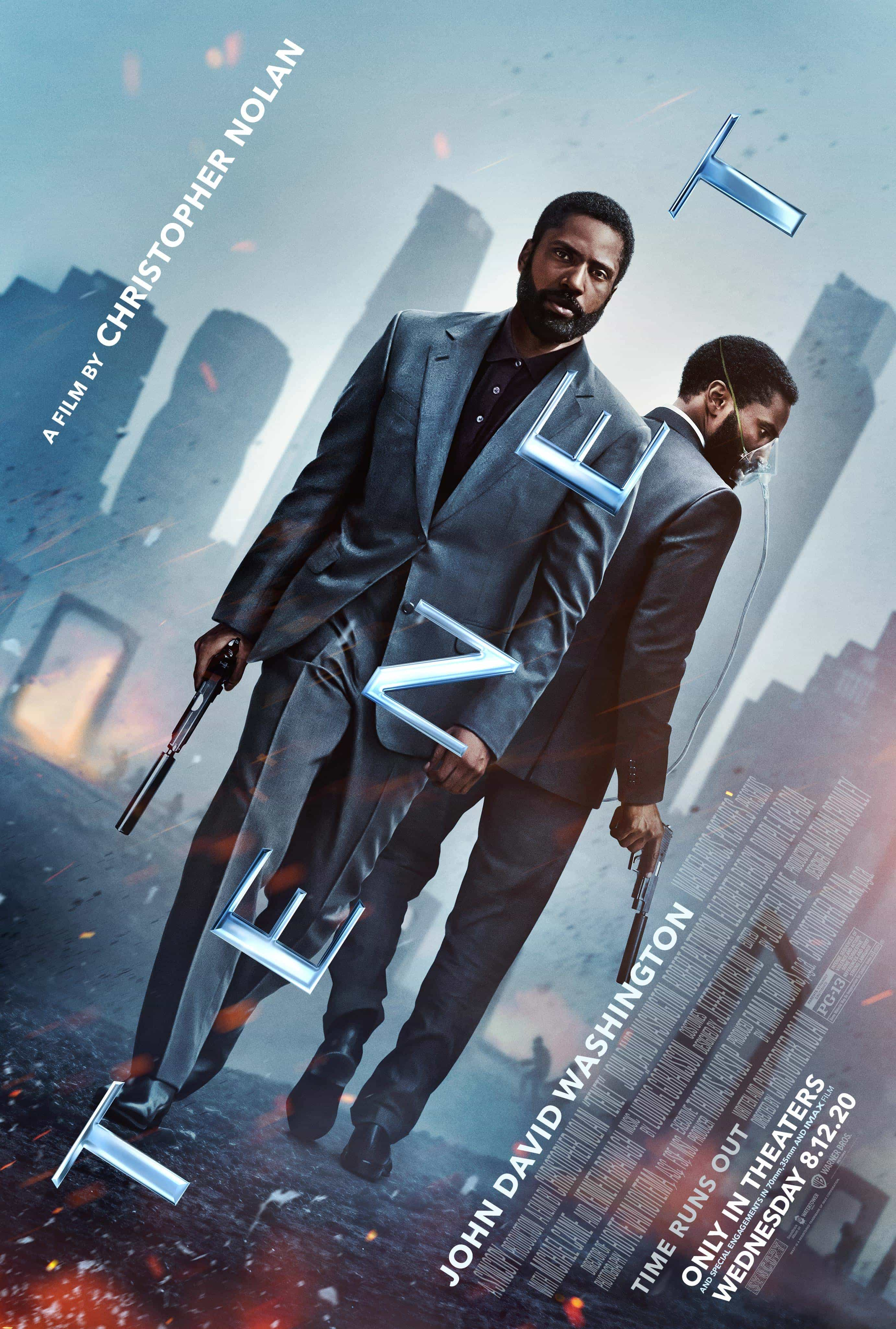 New poster release for Tenet starring John David Washington - movie release date 12th August 2020