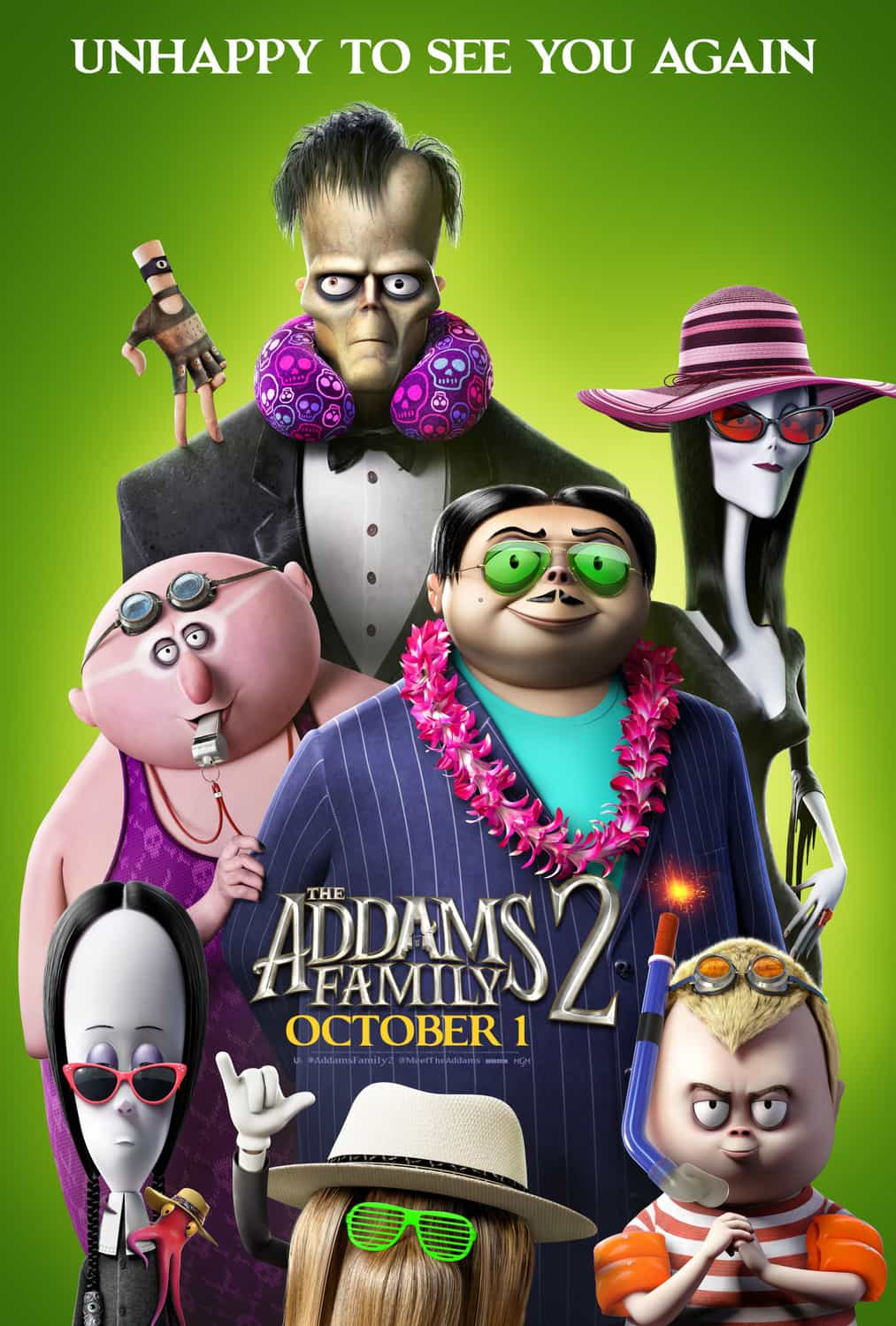 New movie preview UK weekend Friday 8th October 2021 - The Addams Family 2 and Pokemon the Movie: Secrets of the Jungle