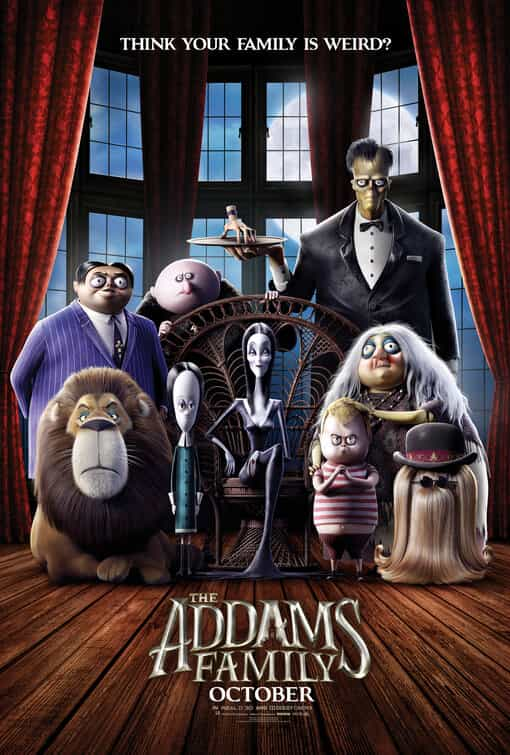 The Addams Family (animation 2019) is given a PG age rating in the UK for mild comic threat, language