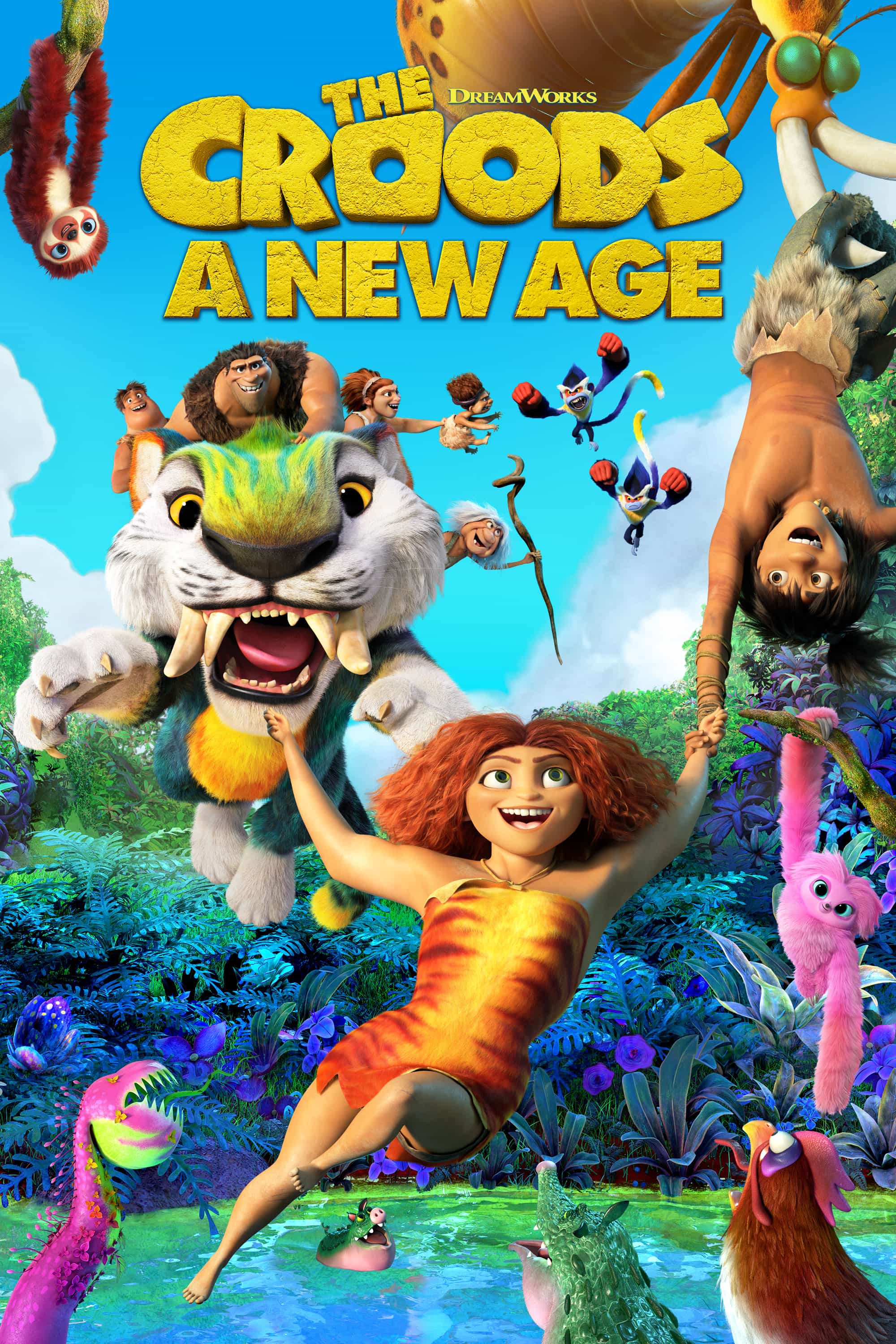 New poster release for The Croods A New Age starring Nicolas Cage - movie release date 29th January 2021