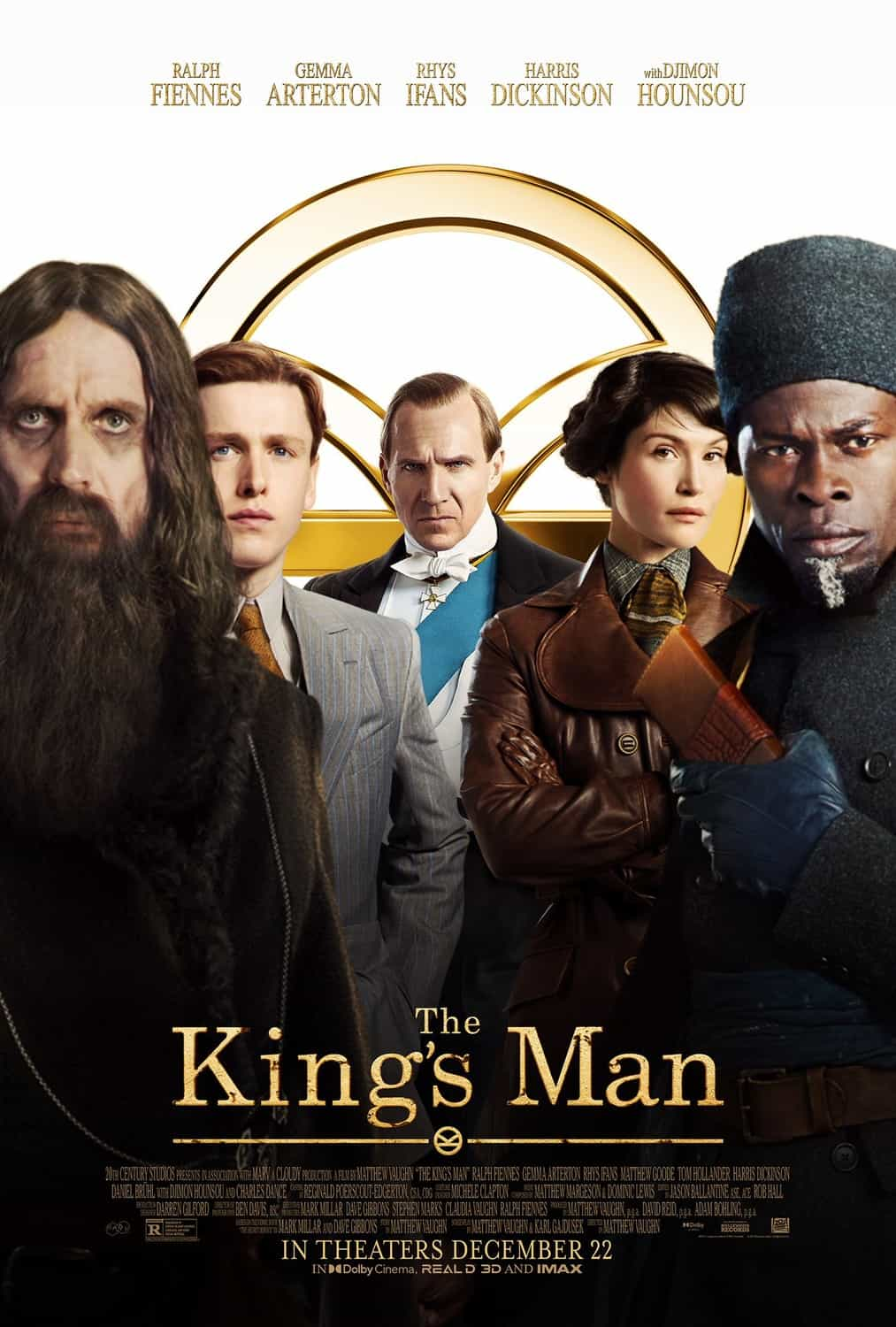New poster release for The Kings Man starring Ralph Fiennes - movie release date 16th September 2020