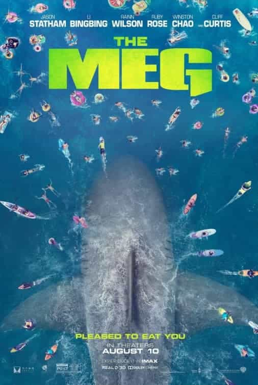 The Meg is given a 12A rating in the UK for moderate threat, occasional bloody moments, action violence