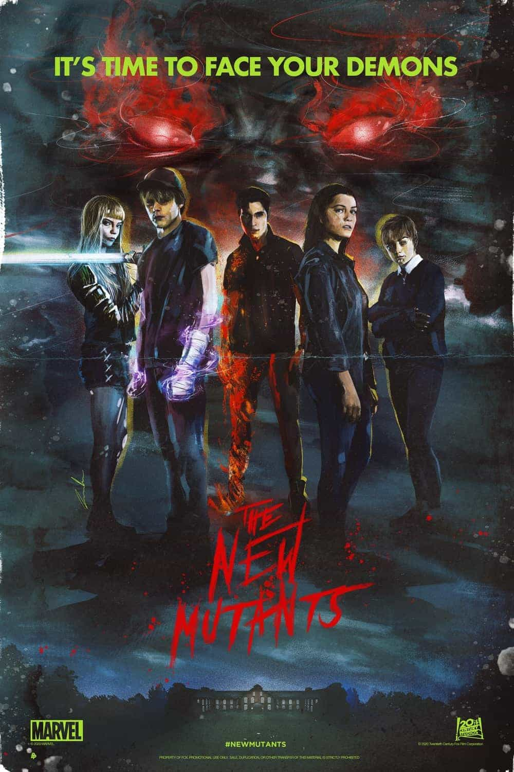 Video and streaming UK charts 10th - 16th January 2021:  The New Mutants takes over from Tenet at the top