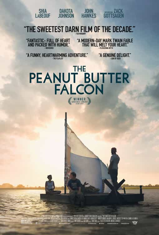 The Peanut Butter Falcon is given a 12A age rating in the UK for moderate violence, threat, discrimination, infrequent strong language