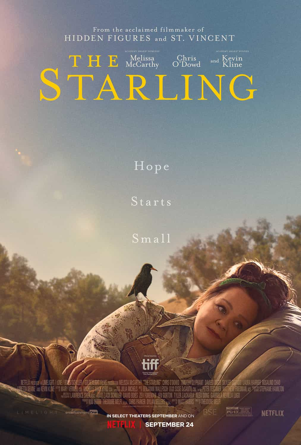 New movie preview UK releases Friday 17th September 2021 - The Starling, Everybody