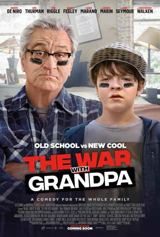 US Box Office Figures 9th - 11th October 2020:  The War With Grandpa starring Robert De Niro is the highest debut of the weekend and the first new number 1 movie in 5 weeks