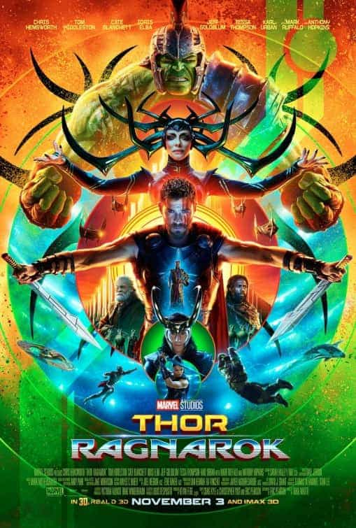 US Box Office Weekend 3rd November 2017:  Post Halloween Jigsaw falls hard while Thor Ragnarok storm the box office