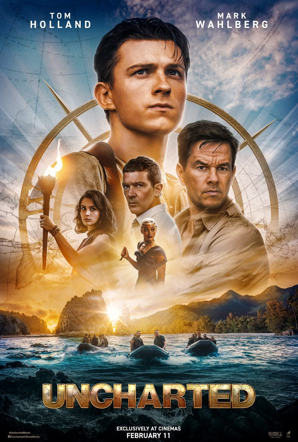 Uncharted (The Movie) starring Tom Holland and Mark Wahlberg gets its first trailer