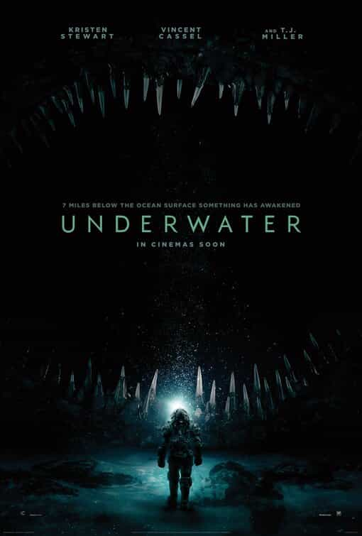 Underwater is given a 15 age rating in the UK for strong threat, bloody images