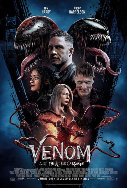 New trailer and poster released for Venom: Let There Be Carnage starring Tom Hardy - movie release date 15th September 2021