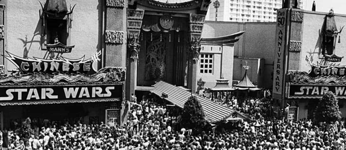 1977 opening of Star Wars in LA